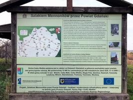Tablica informacyjna w Kiezmarku