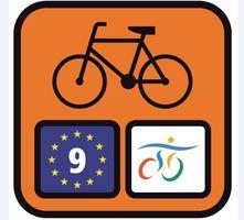 tabliczka z logiem wiślanej trasy rowerowej